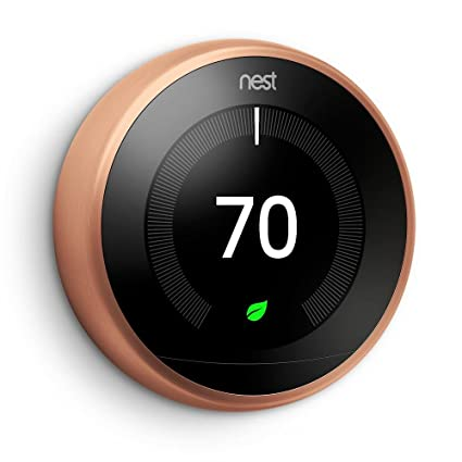 Nest Learning Thermostat | 3rd Generation WiFi Bluetooth Smart Thermostat Copper