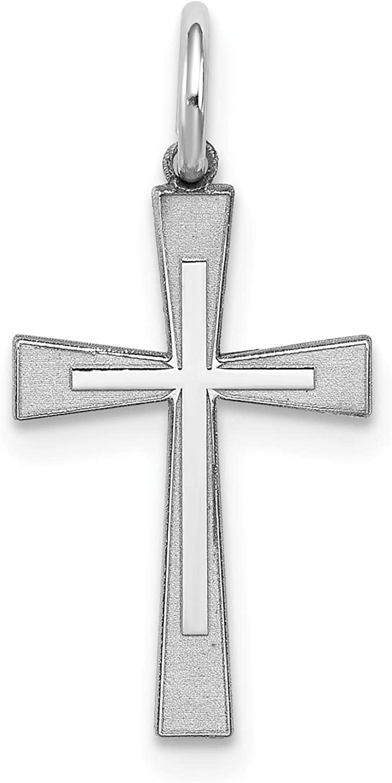 Sterling Silver Laser Designed Cross Charm
