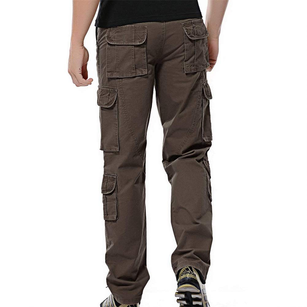 0424988b88a Sunshey Mens Casual Combat Cargo Pants Trousers Loose Cotton Work Wear  Camouflage Trousers  Amazon.co.uk  Clothing