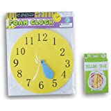 Back to School Telling Time Foam Clock and Flash Cards Set