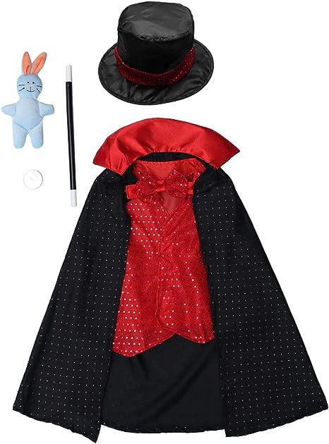 NUOBESTY Disfraz de Mago para niños Juego de Disfraces Disfrazado ...