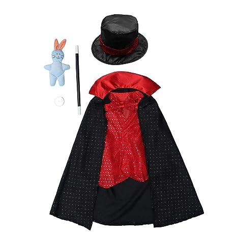 NUOBESTY Disfraz de Mago para niños Juego de Disfraces ...