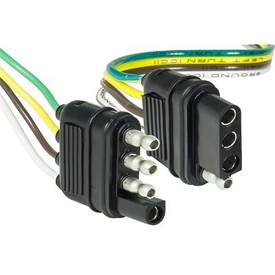 "Hopkins 48205 48"" 4-Wire Flat Connector Set with Splice Connectors: Automotive"