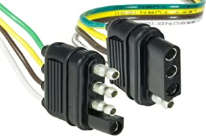 """Hopkins 48205 48"""" 4-Wire Flat Connector Set with Splice Connectors"""