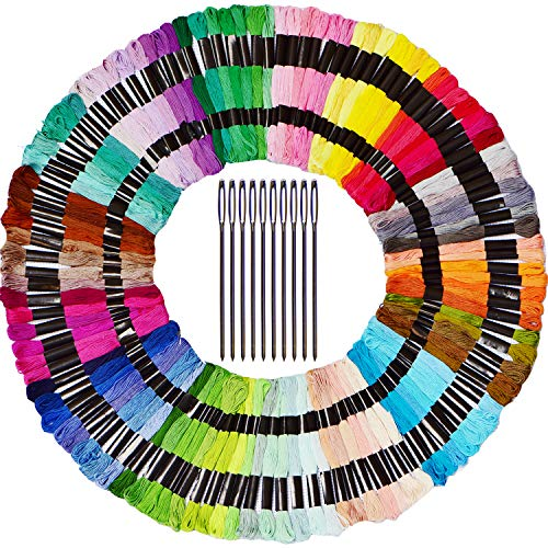 Colored Bird Embroidery Floss110 Pack Embroidery Thread Set