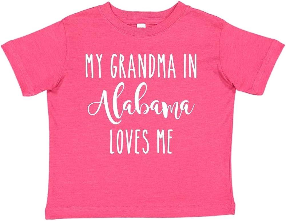 My Grandma in Alabama Loves Me Toddler//Kids Short Sleeve T-Shirt