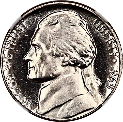 1965 P Jefferson Nickels (Proof) Special Mint Set Nickel MS66 NGC (Ngc Nickel Jefferson Mint)