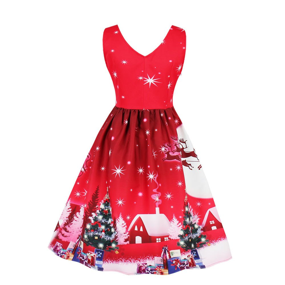 Amazon.com: Christmas Dress, Malbaba Plus Size Womens Santa ...
