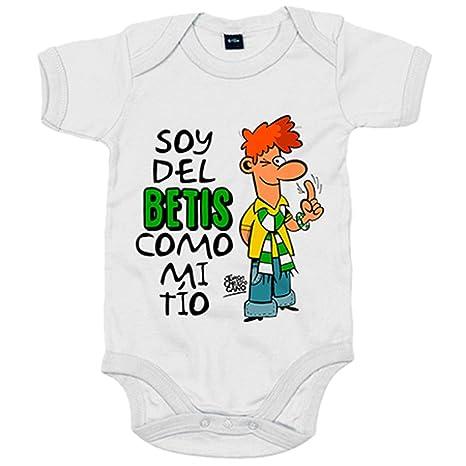 Body bebé soy del Betis como mi tío Jorge Crespo Cano - Blanco, 6-