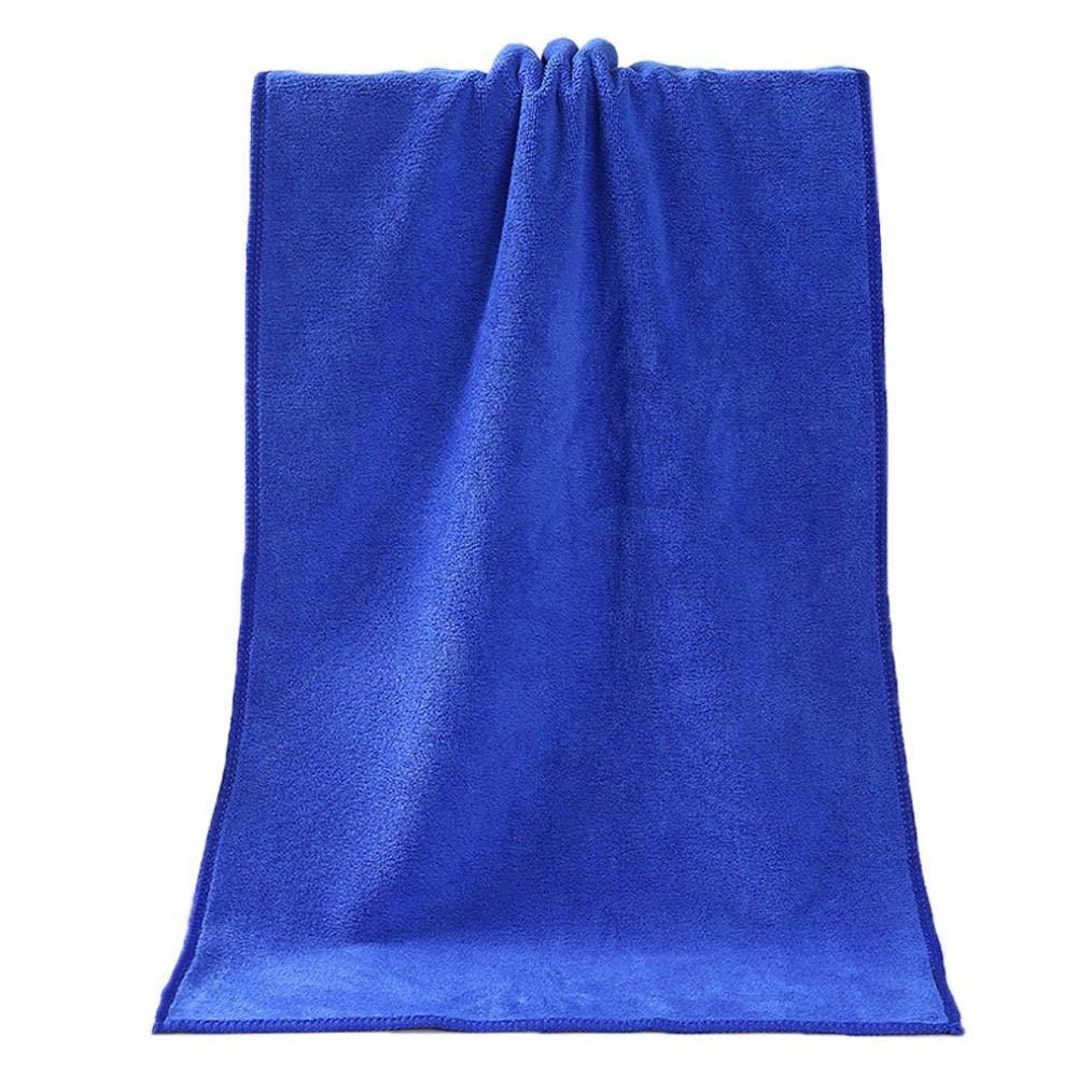 Coohlole Bathing Towel,1PC Comfortable Superfine Fiber Soft Absorbent Shower Bath Towel,13x29inch (Blue)