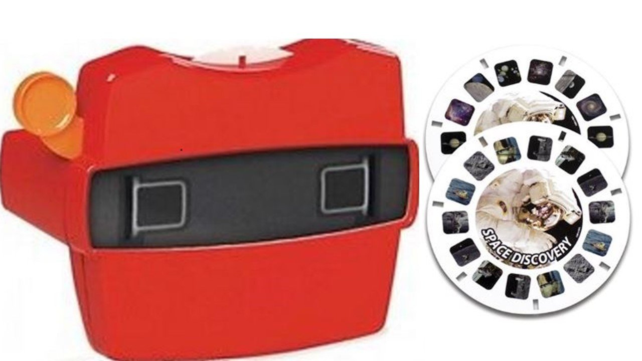 View-Master Red Classic Viewer with 2 Reels 3D Discovery Kids Space Discovery Toy by View Master