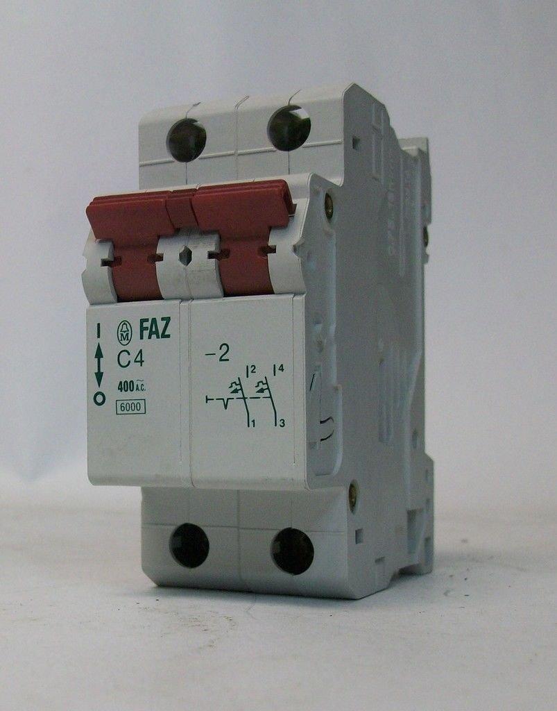 4A 2POLE EATON MOELLER FAZ-C4//2 CIRCUIT BREAKER