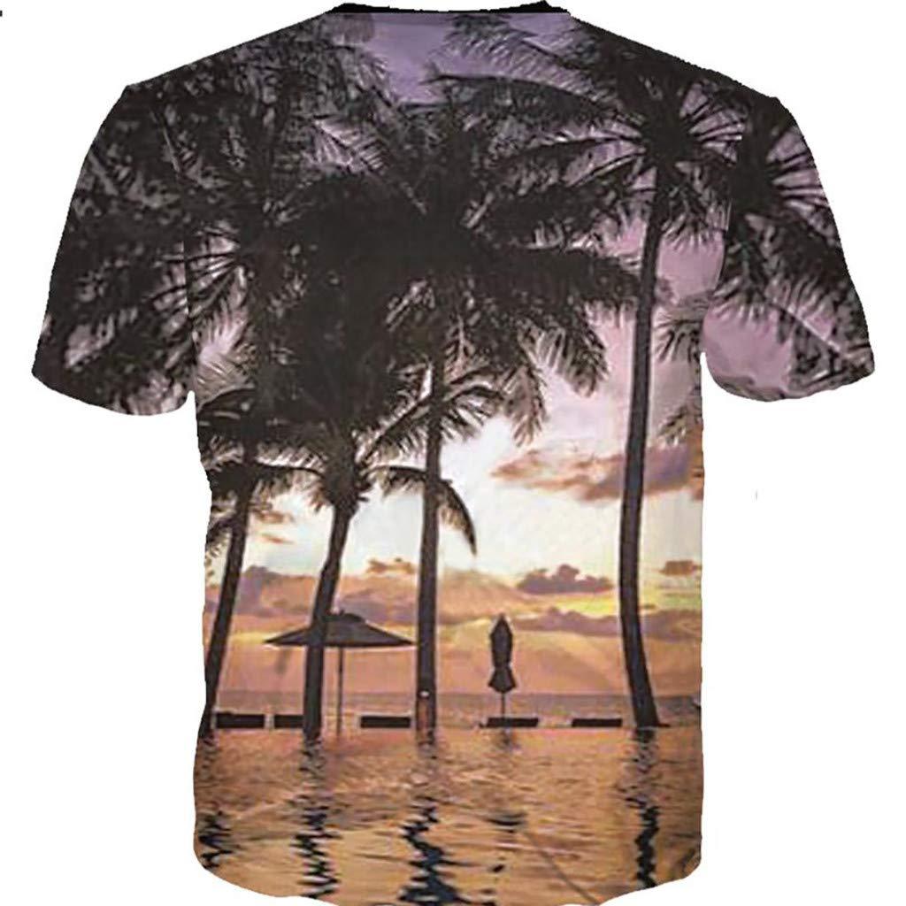 Mens Summer t Shirts Short Sleeve Tronet Fashion Tiger 3D Printing Tees Shirt Short Sleeve T-Shirt Blouse Tops