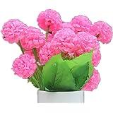 DAYAN 2 mazzo piante di ortensia Fiori Artificiali Fioritura in Seta Bouquet Decorazione per Cerimonia Matrimonio Party Casa