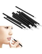 100PCS Kingfansion Disposable MakeUp Lip Brush Lipstick Gloss Wands Applicator Make Up BK
