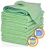 VibraWipe Microfiber Cleaning Cloths – All-Green, Pack of 8 Pieces