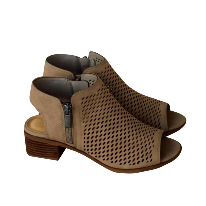 Liyuandian Womens Peep Toe Cut Out Sandals Booties Ankle Heels