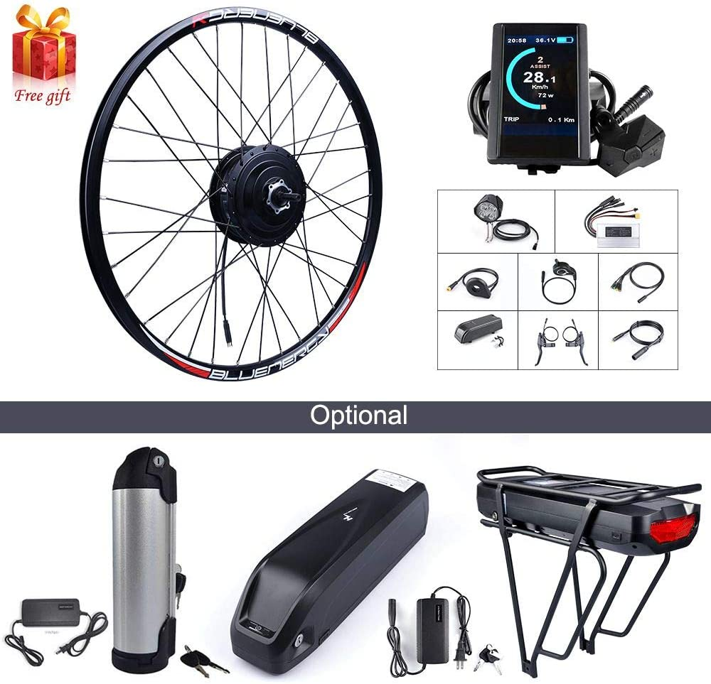 BAFANG 500W 48V Hub Motor Electric Bike Conversion Kit for Kinds of Bicycle 20 26 27.5 700C Rear Wheel