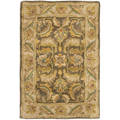 Safavieh Heritage Collection HG964A Handcrafted Traditional Oriental Green and Beige Wool Area Rug (2′ x 3′)