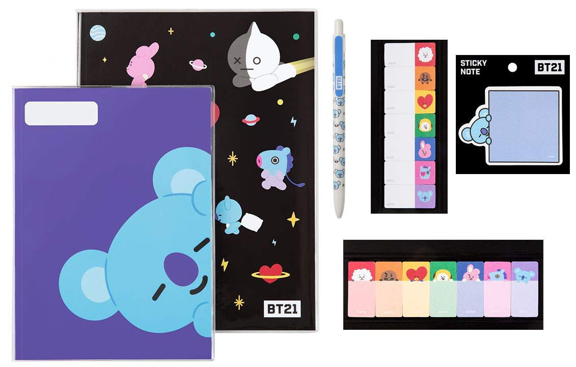 BTS Stationery Sets (RM_Koya) BTS Notes Sticky Tabs Ball Point Pen Sticky Note All in One