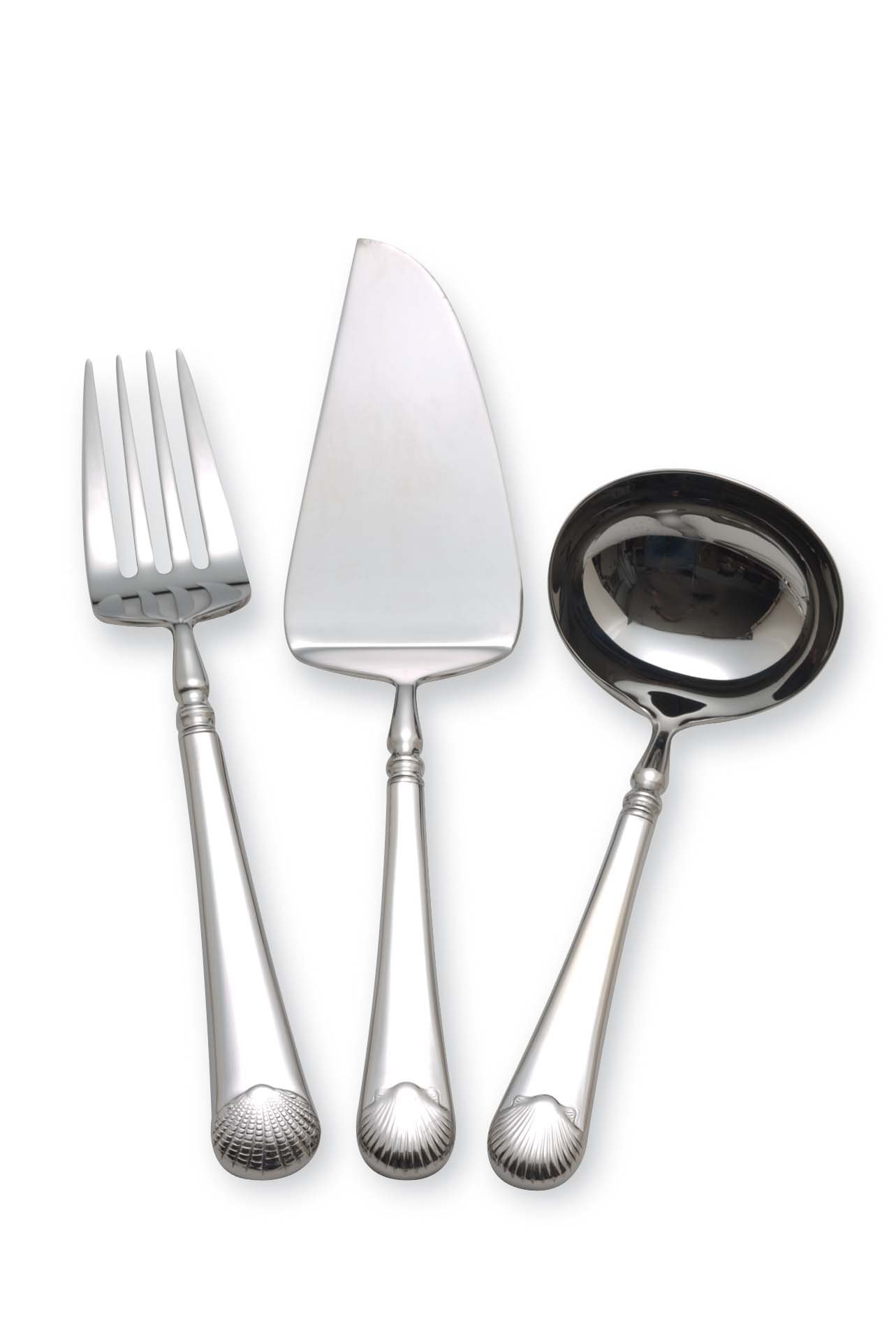 Williamsburg by Reed & Barton Gloucester Shell 3-Piece Serve Set