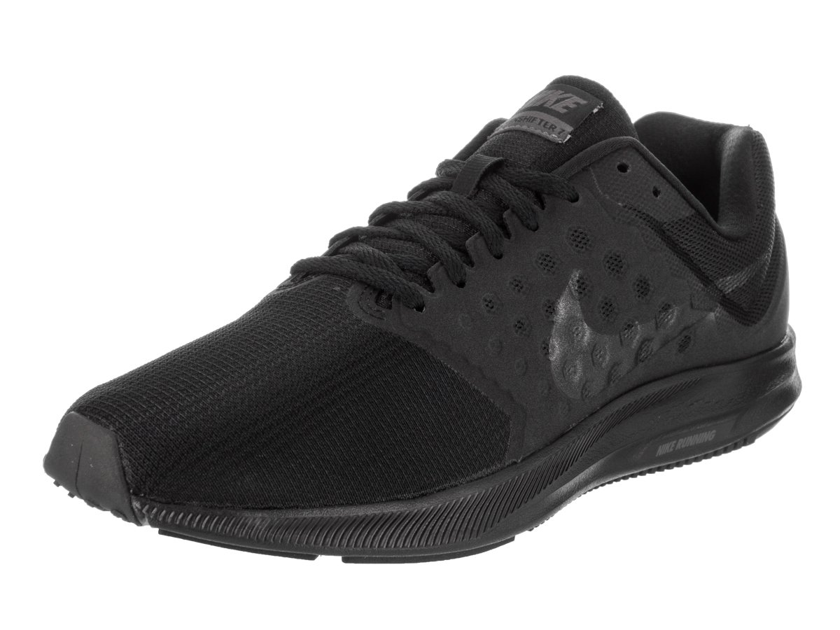NIKE Mens Downshifter 7, Black/MTLC Hematite-Anthracite, 10 D(M) US by NIKE