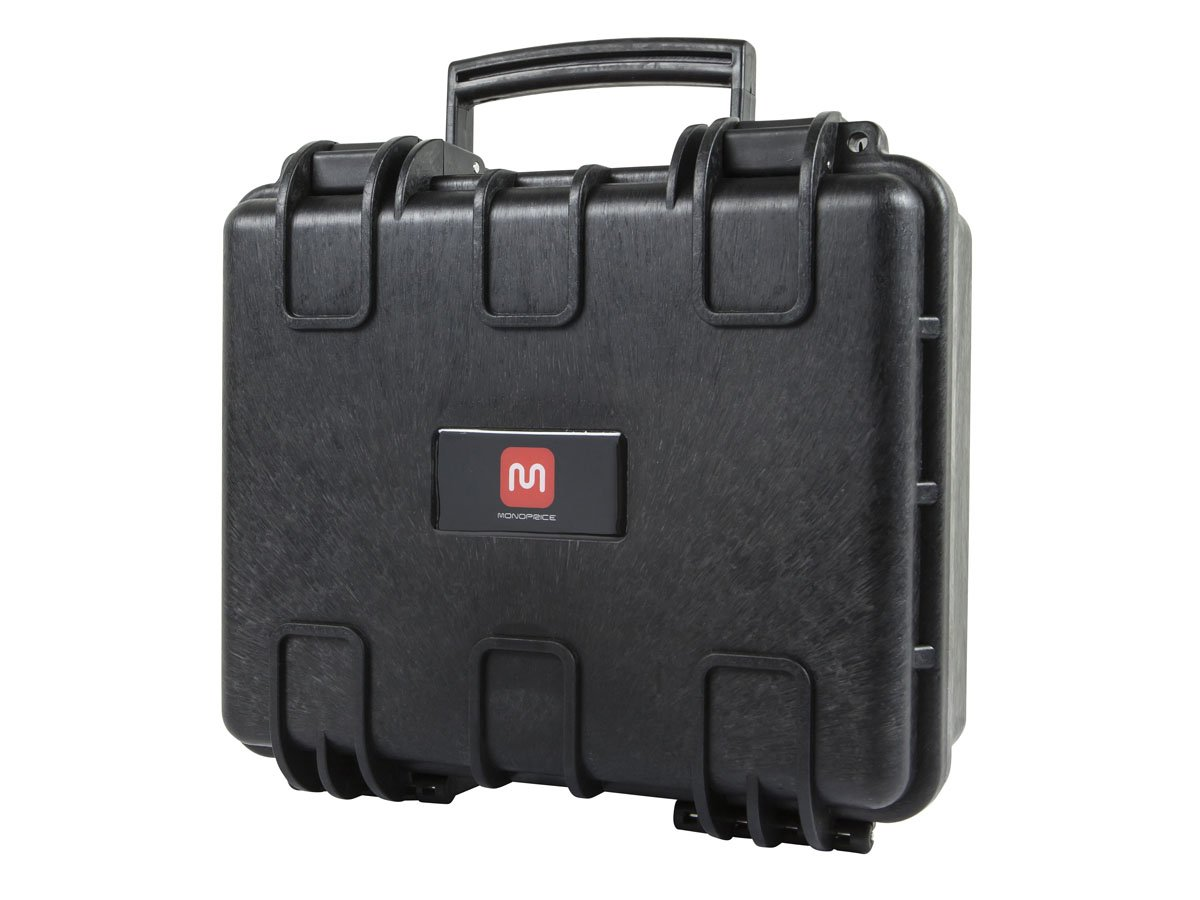 "Monoprice Weatherproof Hard Case with Customizable Foam, 13"" x 12"" x 6"""