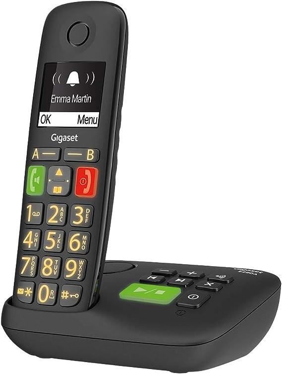 Gigaset E290A Duo Teléfono DECT/analógico Negro Identificador de Llamadas E290A Duo, Teléfono DECT/analógico, Terminal inalámbrico, Altavoz, 150 entradas, Identificador de Llamadas: Amazon.es: Electrónica