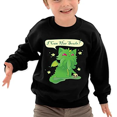 The Sticky Cat Kids I Can Has Soul Cathulhu Cat Cthulhu Humor Crewneck Long Sleeve T-Shirt