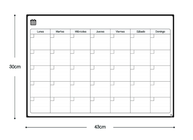 Ideal Planificador de Men/ú Pizarra Magn/ética Incluye 4 Rotuladores de Color Lista de la Compra Smart Panda Calendario Magn/ético para Nevera Mensual Recordatorio En Espa/ñol