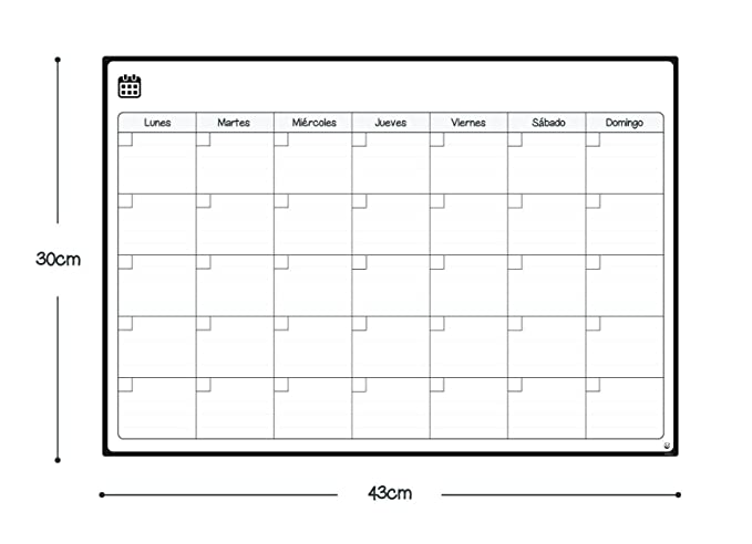 Smart Panda Calendario Magnético para Nevera - Ideal Planificador ...