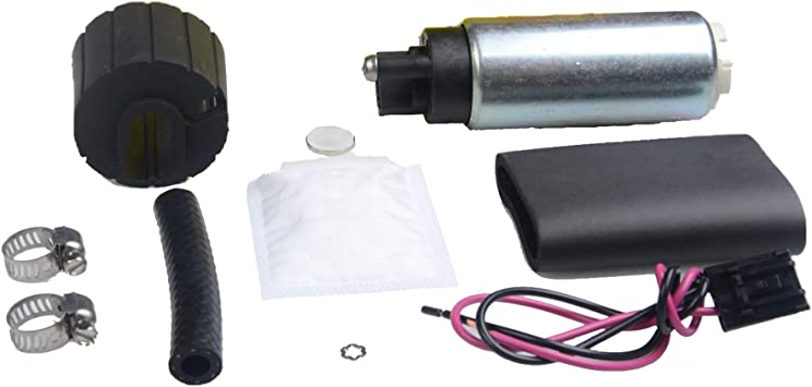 New 255LPH High Performance Electric Fuel Pump Install Kit Auto GSS341 Replace