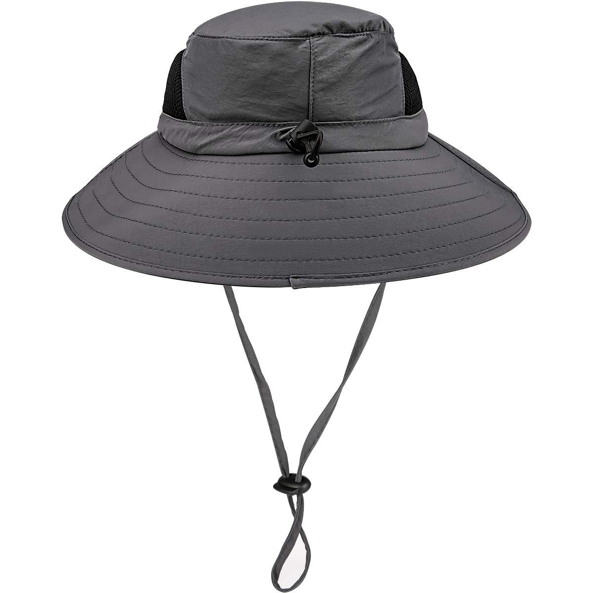 HOHOTO Donna Cappello da pescatore da uomo con fasce e fascia, cappello da trekking protegge da sole e pioggia, impermeabile ad asciugatura rapida e protezione UV UPF 50+