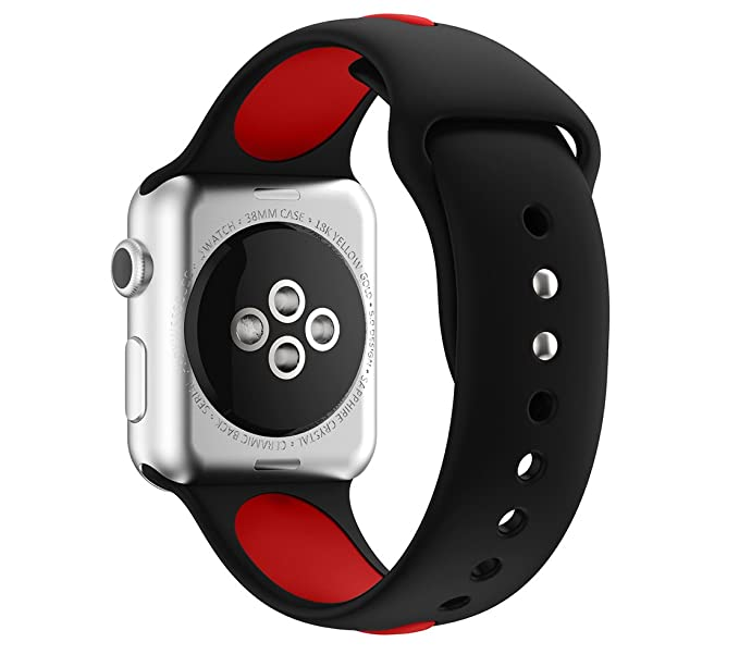 sale retailer 59c07 ee57c Kartice for Apple Watch Band Nike+,Soft Silicone Bracelet Watch bands Sport  Replacement Strap Wristband