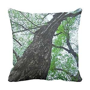 lettert ramas decorativas almohadas cuadrado de 20x 20Look Up Manta almohadas rústico Chic