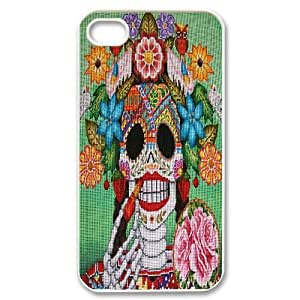 C-Y-F-CASE DIY Flower Skull Pattern Phone Case For Iphone 4/4s