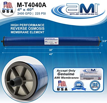 High Rejection 525 GPD at 225 psi Applied Membranes USA M-T4014A/… 99.5/% Rejection Replacement Commercial RO Membrane 4x14 Reverse Osmosis Membrane Element for Tap Water