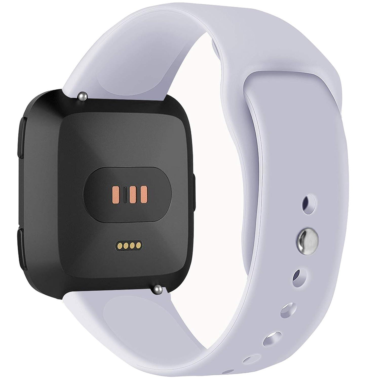 Allbingoスポーツバンドfor Fitbit Versa、耐久性シリコン交換レディースメンズアクセサリー手首バンドストラップfor Fitbit Versa Smart Watch Small Large B07FNFLF13 グレー Large Large グレー