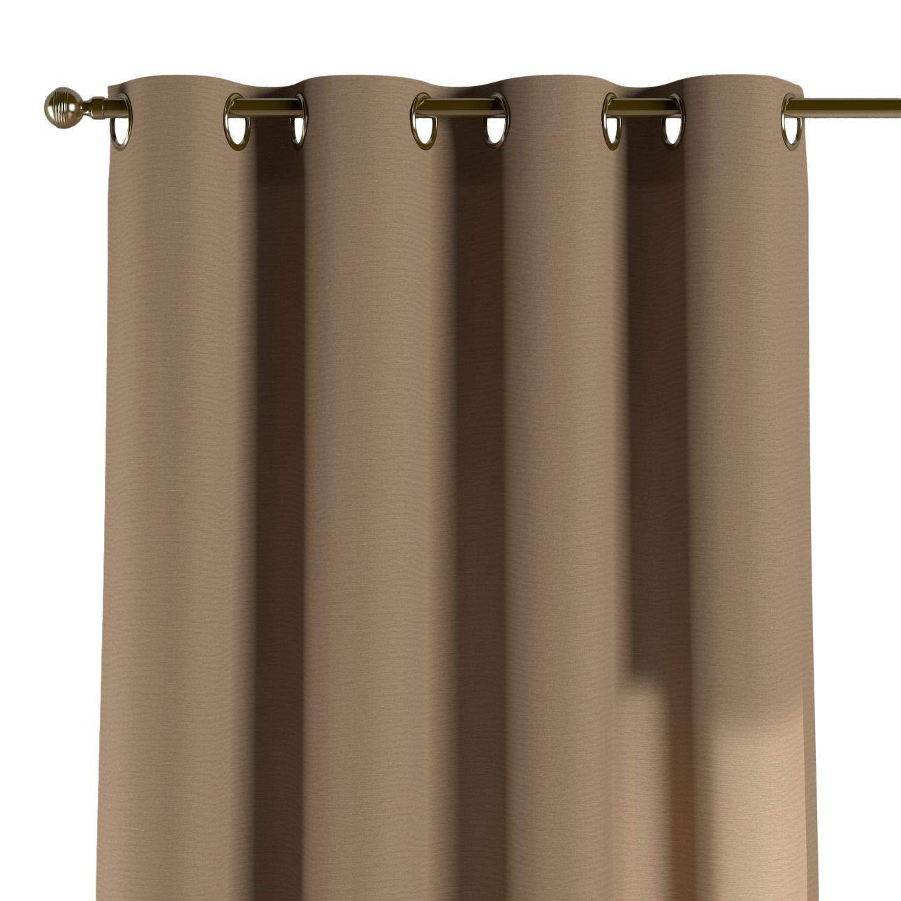 Dekoria Ösenschal Dekoschal Blickdicht 1 Stck. 130 × 260 cm Hellbraun Maßanfertigung möglich