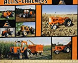 Allis Chalmers Tractor Fleece Fabric, soft and warm, sold by the yard