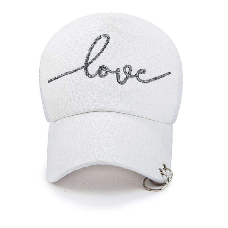 Women Men Unisex Baseball Cap Causal Letter Embroidery Mesh Hip Hop Flat Snapback Caps