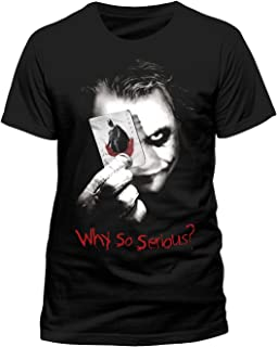 66b218e92 Batman The Dark Knight Joker Heath Ledger T-Shirt, Licensed, Black ...