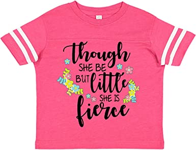 inktastic She is Fierce 4th Birthday Shakespeare Toddler T-Shirt
