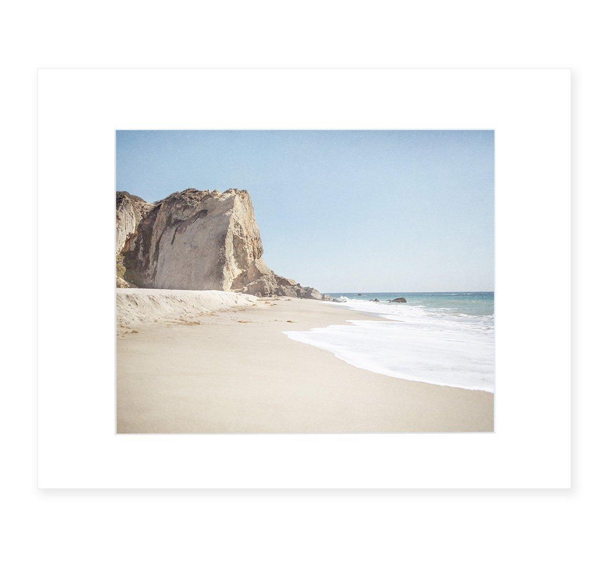 Malibu Wall Art, California Landscape Beach Picture, Coastal Seascape Decor, 8x10 Matted Photographic Print (fits 11x14 frame) 'Point Dume'