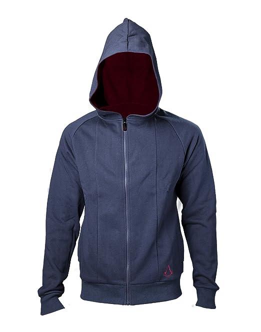 Assassins Creed Movie Sweatshirt Outlined Crest Logo Movie Hoodie Blue: Amazon.es: Ropa y accesorios