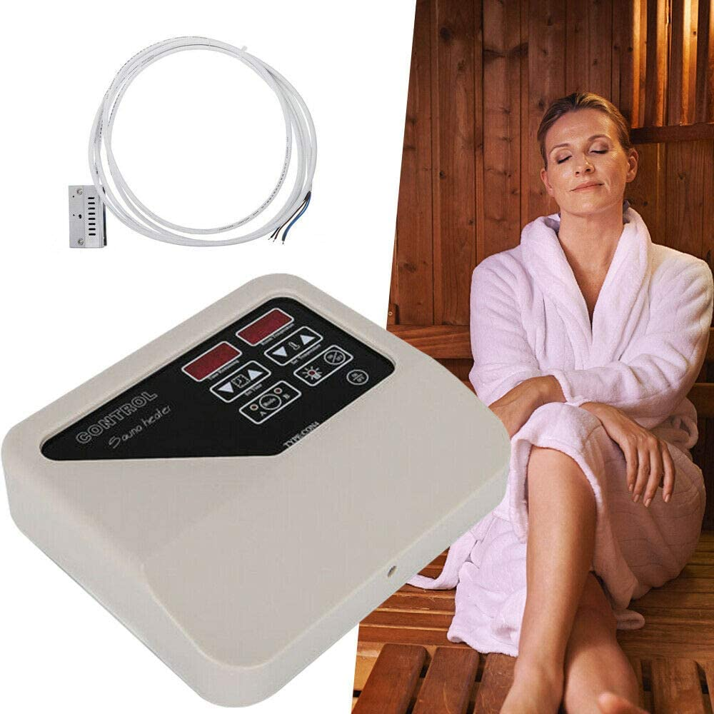 Saunasteuerung Sauna Digital Controller 3-9kw Wangkangyi Saunaofen Saunasteuerger/ät 8 Normale Heizung LED-Displa 4 Modu