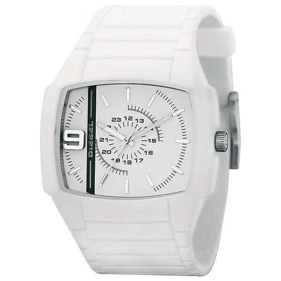 Diesel DZ1321 - Reloj unisex de cuarzo, correa de silicona color blanco: Diesel: Amazon.es: Relojes