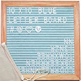 ReadyWerks Blue Felt Letter Board 10x10 Inches. Changeable Blue Letter...
