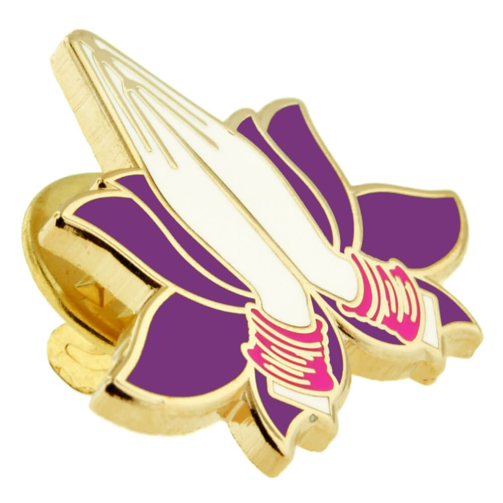 PinMart Namaste Praying Hands Yoga Lover Lotus Enamel Lapel Pin