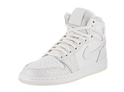 new york buy online authentic Jordan Nike Kids Air 1 Ret Hi Prem HC GG White/White Pure Platinum  Basketball Shoe 8 Kids US